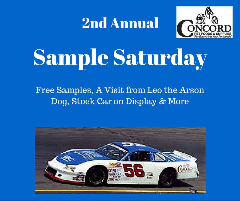 Sample Saturday at Concord Pet