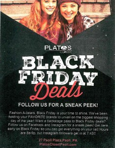 Black Friday sale at Plato's Closet