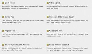 dia doce cupcake flavors