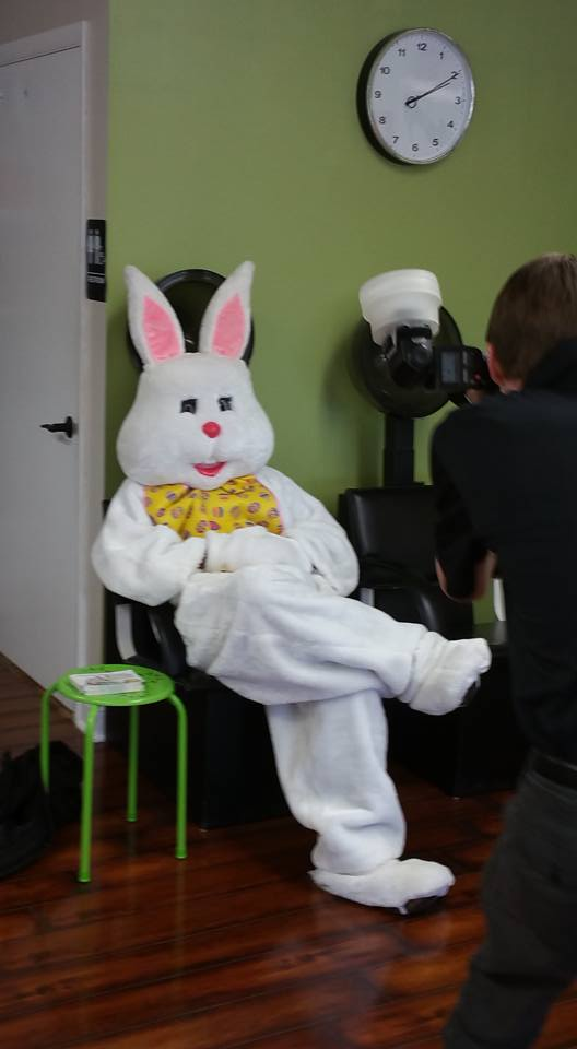 The Easter Bunny Visits Studio H