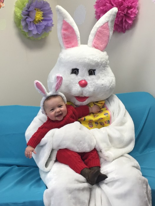 The Easter Bunny's new friend