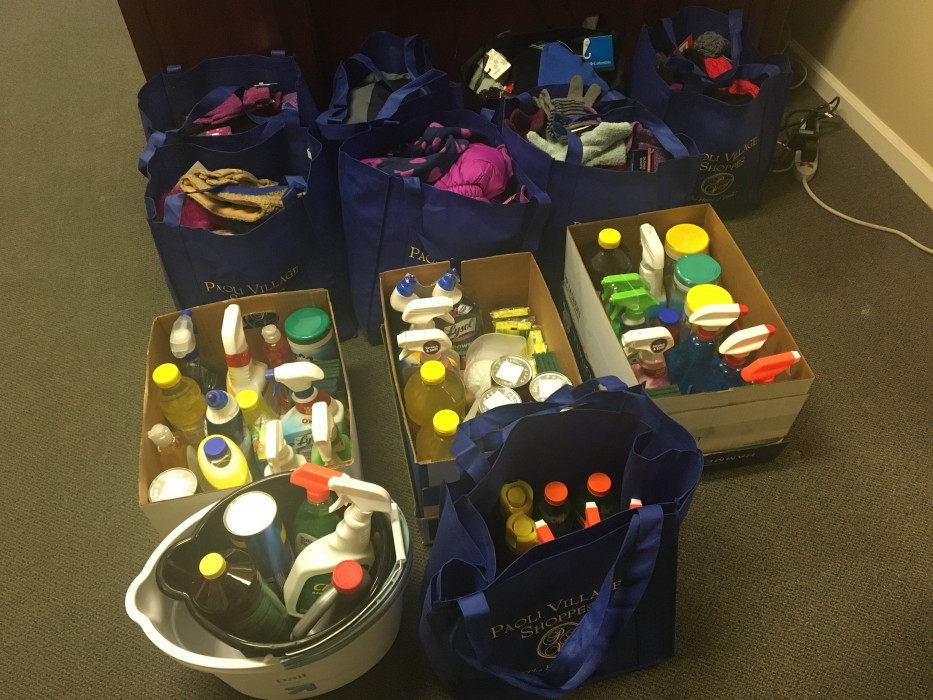 PVS Donates Cleaning Supplies and Hats and Gloves to T&E Care