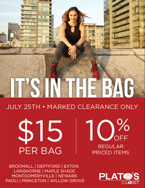 It S In The Bag Event At Plato S Closet July 24th 25th Paoli Village Shoppes