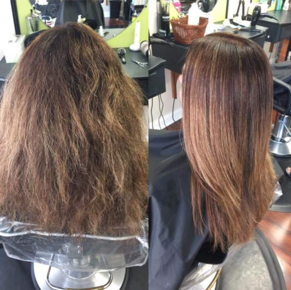 Before and After Keratin Treatment by Studio H