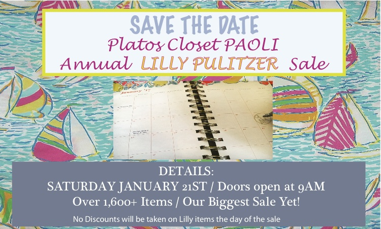 Lilly Pulitzer Sale at Platos Closet Paoli