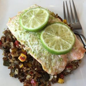 Lime Salmon With Quinoa