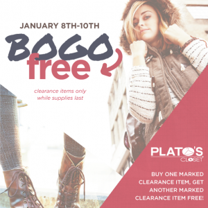 Buy One Get One Sale at Plato's Closet