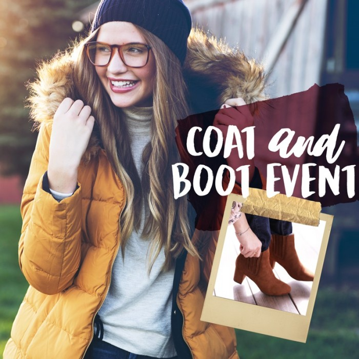 Plato's Closet Coat and Boot Event 2017