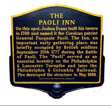 The Paoli Inn Sign