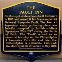 Plaque about the Paoli Inn