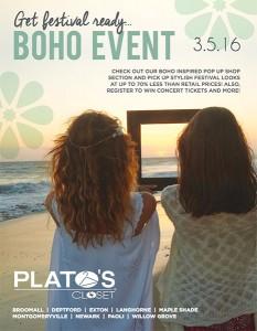 Platos Boho Event