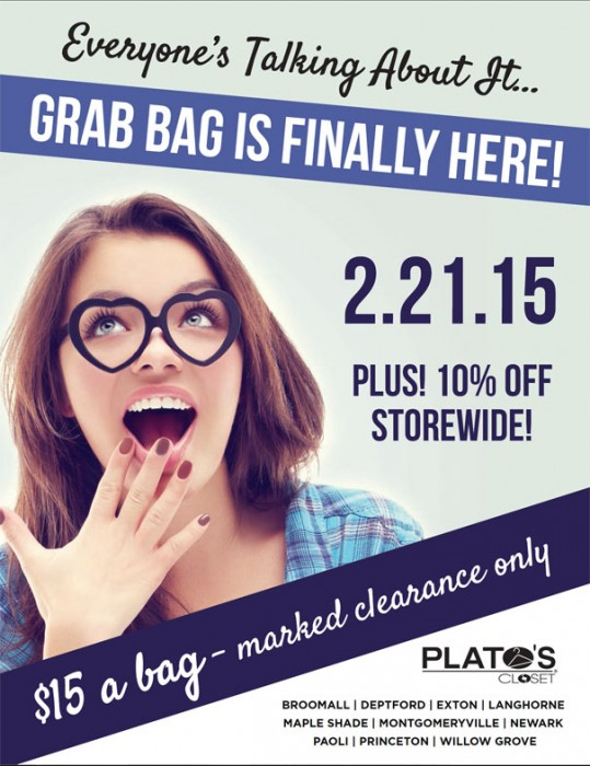 Plato S Closet Grab Bag Sale Paoli Village Shoppes