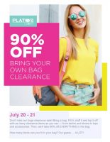 Plato's Sale Flyer July 20 & 21