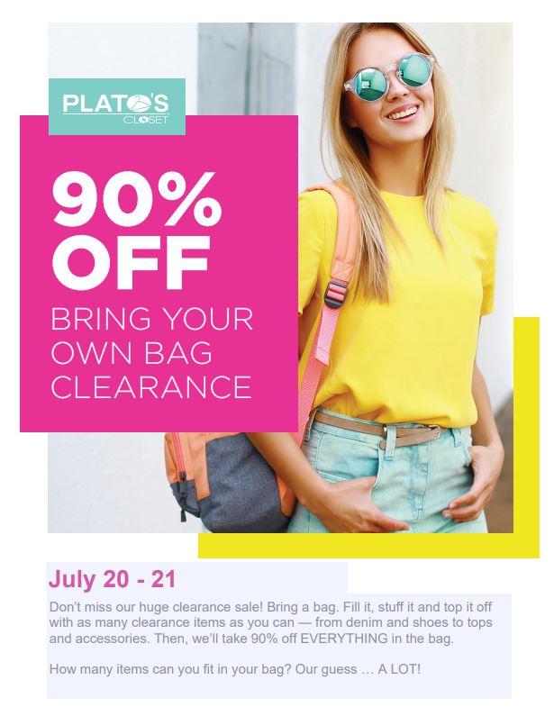 Plato's Sale Flyer July 20 & 21