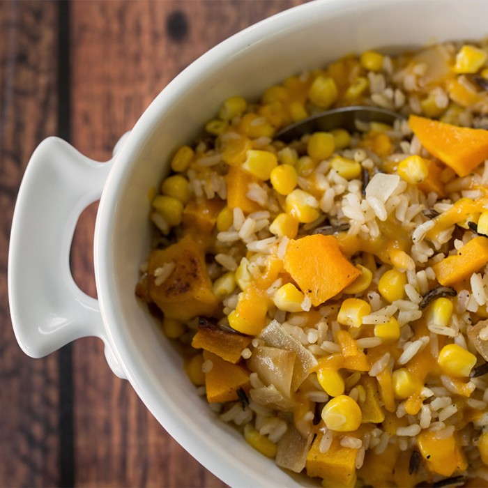 Roasted Butternut Squash and Wild Rice