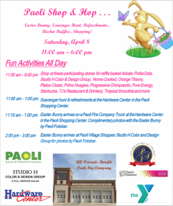 Paoli Shop and Hop Promotional Flyer