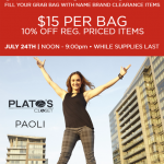 Plato's Closet Sneak Peak Sale