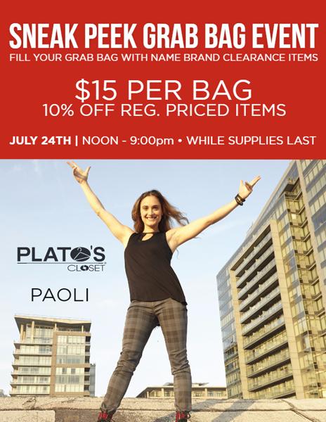 Plato's Closet Sneak Peak Sale