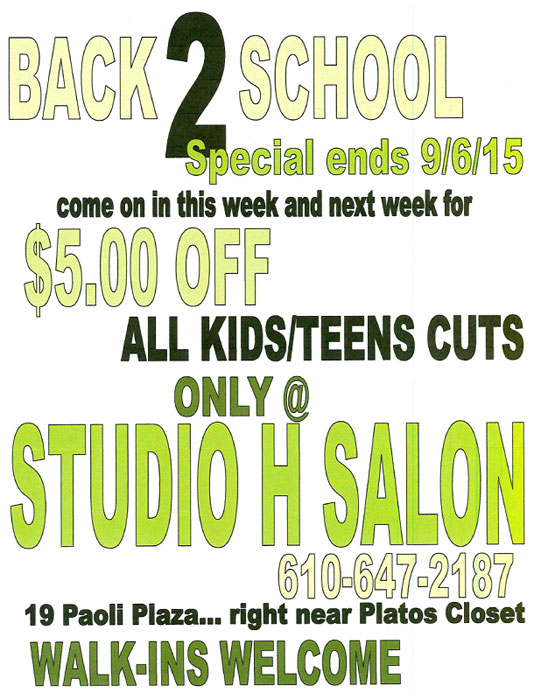 Back to School Haircut Special