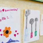 kids' drawings at HomeCooked