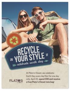 Plato's Closet Earth Day Sale