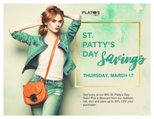 St. Patty's Sale at Plato's Closet Paoli